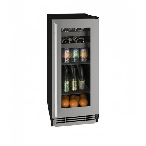 "Product Image - Hbv115 15"" Beverage Center With Stainless Frame Finish (115v/60 Hz Volts /60 Hz Hz)"
