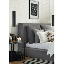 HEAVENLY - FLAX CHARCOAL King Headboard with Comfort Pillows 6/6