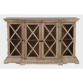 Carrington Small Breakfront Cabinet - Bisque