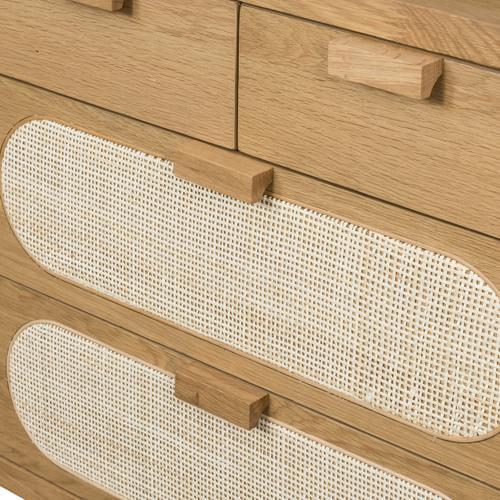 Allegra 8 Drawer Dresser-natural Cane