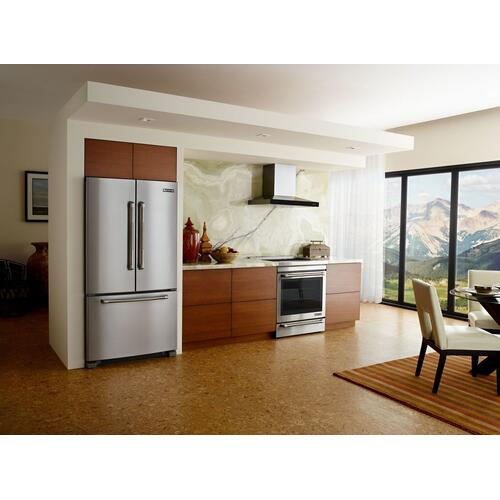 "69"" Counter-Depth, French Door Refrigerator with Internal Water/Ice Dispensers Stainless Steel"