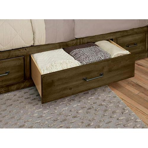 Artisan & Post Solid Wood - Queen Leather Bed with 2 Side Storage