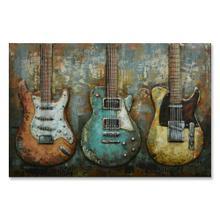 Guitar Line-Up 32x48 Metal Wall Art