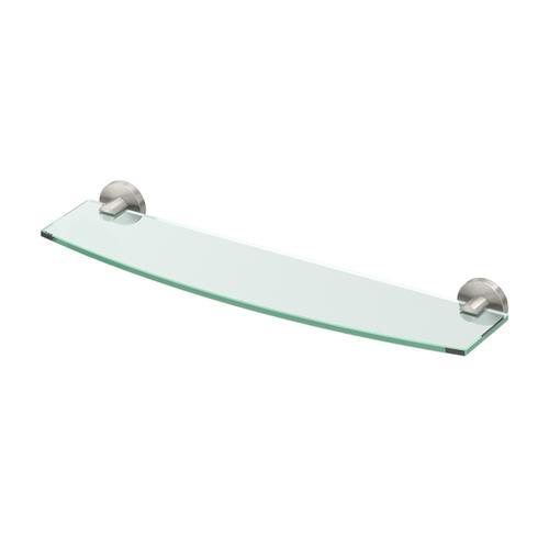 Reveal Glass Shelf in Satin Nickel
