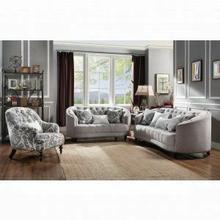ACME Saira Sofa w/5 Pillows - 52060 - Light Gray Fabric