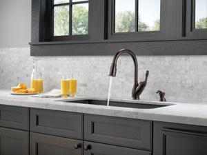 Venetian Bronze Single Handle Pull-Down Kitchen Faucet Product Image