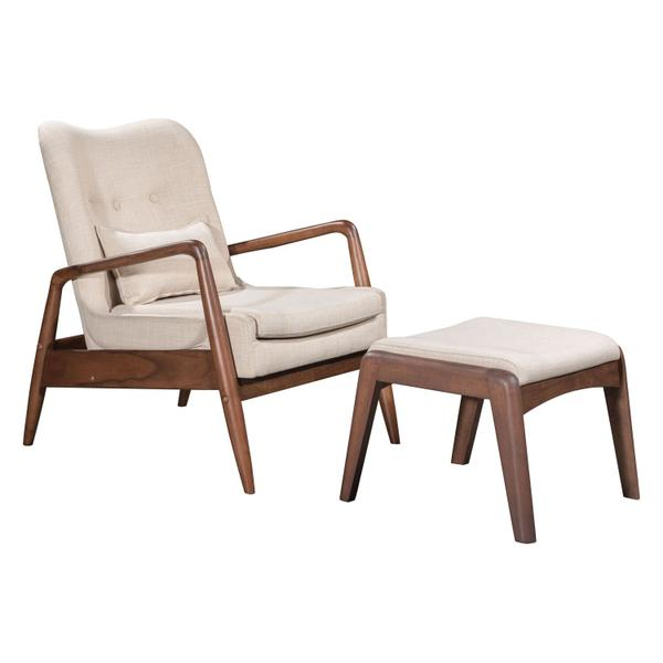 See Details - Bully Lounge Chair & Ottoman Beige
