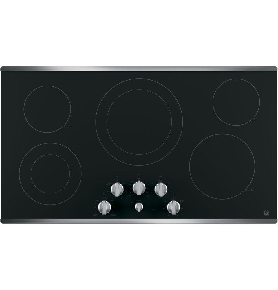 """GE®36"""" Built-In Knob Control Electric Cooktop"""