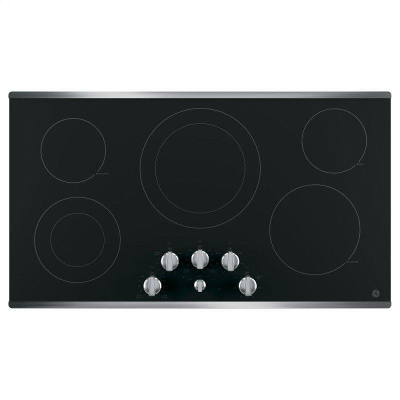 """®36"""" Built-In Knob Control Electric Cooktop"""