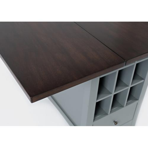 Asbury Park Storage Counter Drop Leaf Table - Grey/autumn