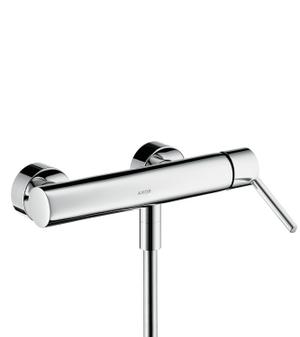 Chrome Single lever shower mixer for exposed installation with lever handle Product Image