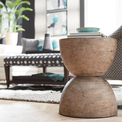Antiquities Tahiti Round Lamp Table