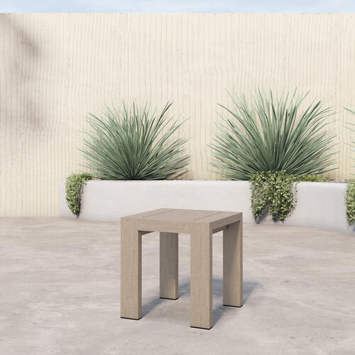 Four Hands - Washed Brown Finish Caro Outdoor End Table