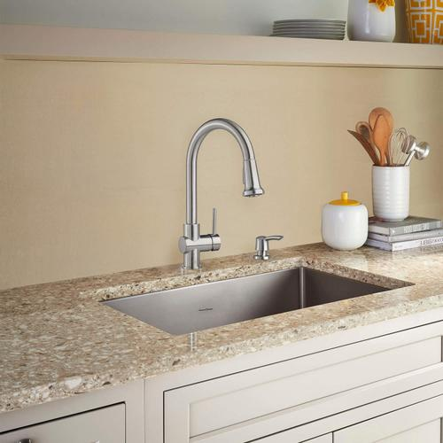 American Standard - Montvale Pull-Down Kitchen Faucet with Soap Dispenser  American Standard - Stainless Steel