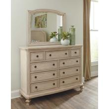 Demarlos Bedroom Mirror Parchment White