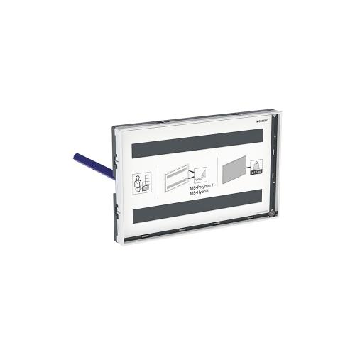 Cover Plates For use with remote flush buttons with Sigma and Omega in-wall systems Omega 2x6 in-wall systems** Compatibility Plastic - Customizable, polished chrome frame Material - Finish