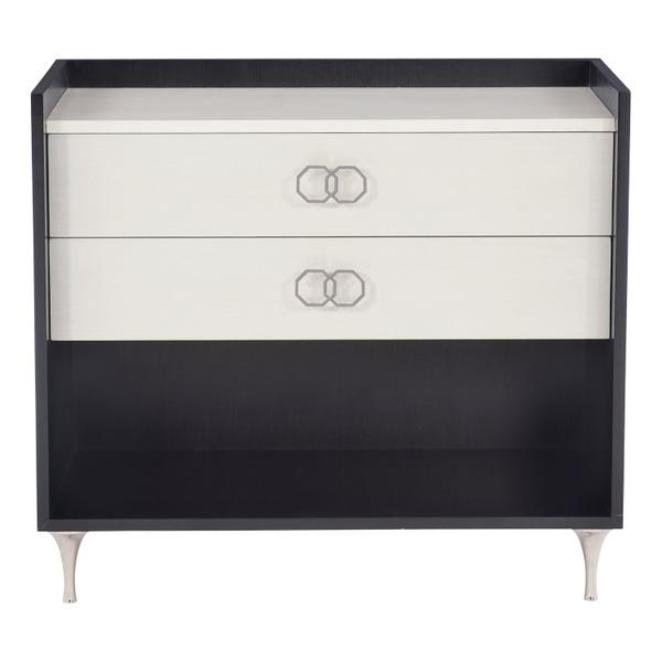 Silhouette Nightstand in Onyx (307), Eggshell (307)