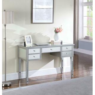 Hollywood Glam Antique Silver Writing Desk