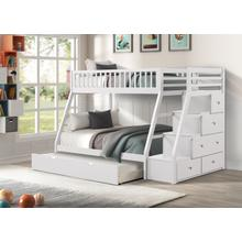 See Details - Julian Twin over Full Bunkbed with Twin Trundle, White