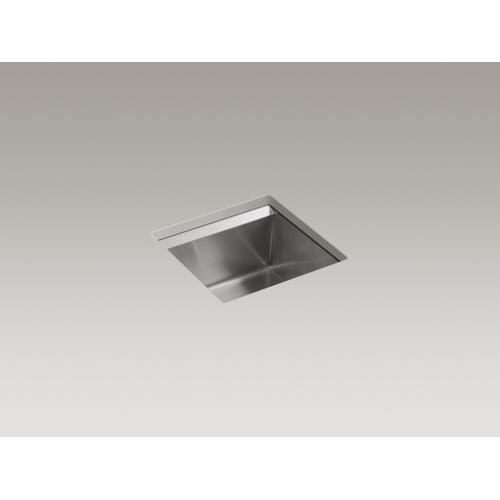 """18"""" X 18"""" X 10-3/16"""" Undermount Bar Sink With Rack and Wine Glass Rack"""