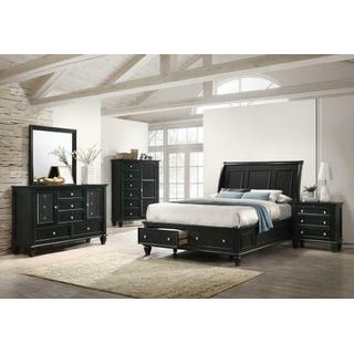 See Details - Sandy Beach Black Queen Five-piece Bedroom Set