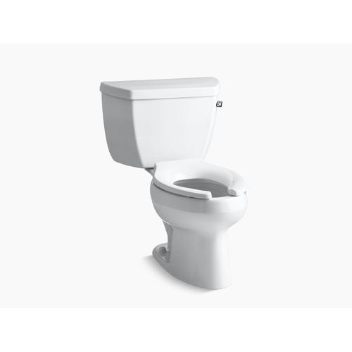 Black Black Two-piece Elongated 1.6 Gpf Toilet With Right-hand Trip Lever, Less Seat