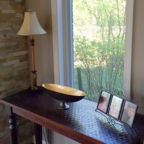 Howard Elliott - Oblong Bronze Footed Bowl with Gold Luster - Medium