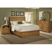 Queen Sleigh Bed with Footboard Storage (finish not as shown)