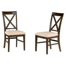 Product Image - Lexi Dining Chairs Set of 2 with Oatmeal Cushion in Walnut