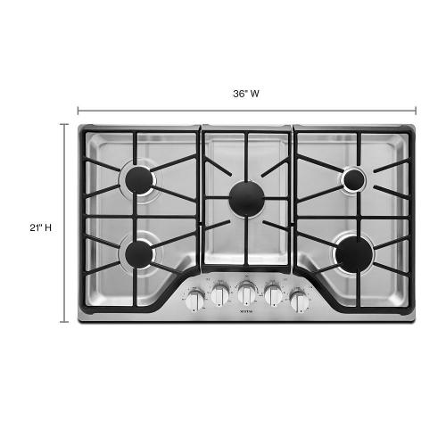 Maytag - 36-inch Wide Gas Cooktop with DuraGuard™ Protective Finish