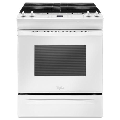 Whirlpool - 5.0 cu. ft. Front Control Gas Range with Cast-Iron Grates