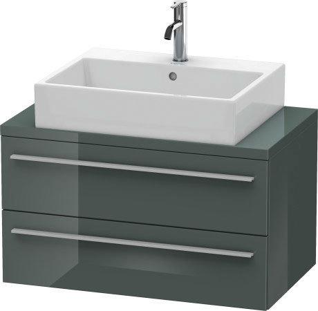 Duravit - Vanity Unit For Console Compact, Dolomiti Gray High Gloss (lacquer)