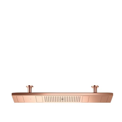 Polished Red Gold ShowerHeaven 1200/300 4jet with lighting 2700 K