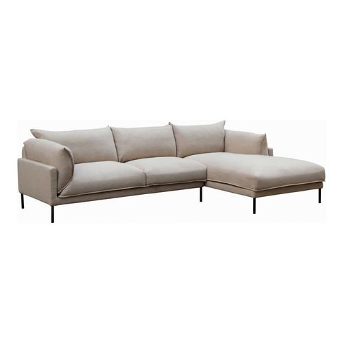 Moe's Home Collection - Jamara Sectional Right Sandy Beige
