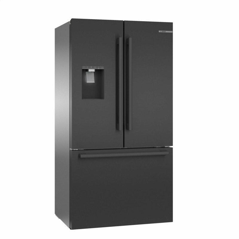 500 Series French Door Bottom Mount Refrigerator 36'' Black stainless steel B36CD50SNB