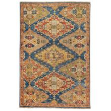 Charise-Kazak Blue Multi Hand Knotted Rugs (Custom)