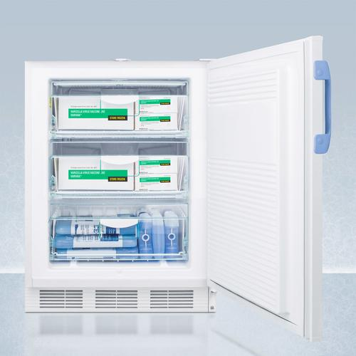 Summit - Built-in Undercounter ADA Compliant Medical/scientific -25 c Capable All-freezer With Front Control Panel Equipped With A Digital Thermostat and Nist Calibrated Thermometer/alarm