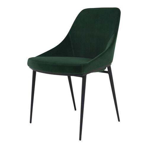 Sedona Dining Chair Green Velvet-m2