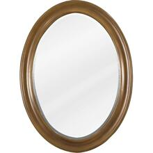 "23-3/4"" x 31-1/2"" Caramel oval mirror with beveled glass"