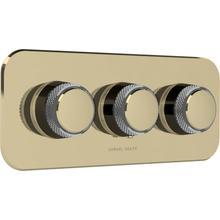 See Details - Antique Gold With Gloss Black Chrome Trim set for V135-AIS thermostatic valve - 2 separate volume controls