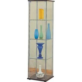 See Details - Cappuccino Curio Cabinet With Four Shelves