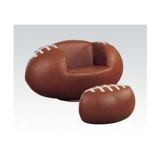 2pc Pk Football Chair & Ottoman
