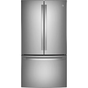 GE Profile™ ENERGY STAR® 23.1 Cu. Ft. Counter-Depth Fingerprint Resistant French-Door Refrigerator - FINGERPRINT RESISTANT STAINLESS