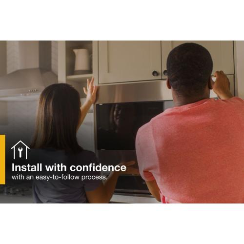 """Whirlpool - 1.1 cu. ft. Built-In Microwave with Standard Trim Kit - 19-1/8"""" Height"""