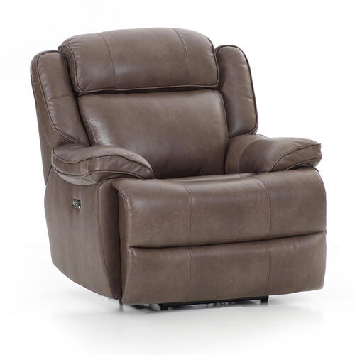 Avalon Dual Power Reclining Chair  Leather Latte