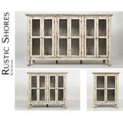 "Rustic Shores Scrimshaw 32"" Accent Cabinet"