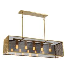 See Details - Pendant, Aged Brass/smoke Mirror Glass Shade, E27 V 60wx5