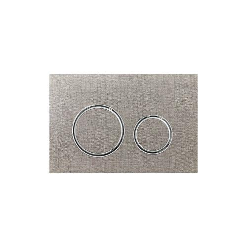 Sigma21 Dual-flush plates for Sigma series in-wall toilet systems Grey Linen NEW! Finish