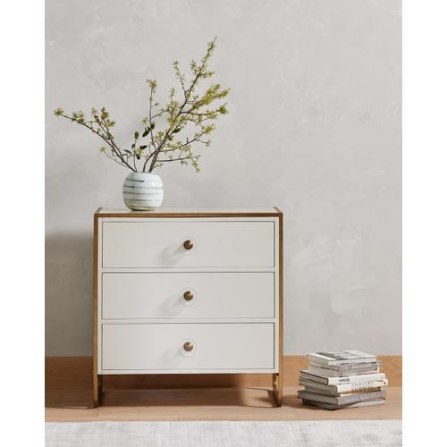 Sorella 3 Drawer Dresser-bright White