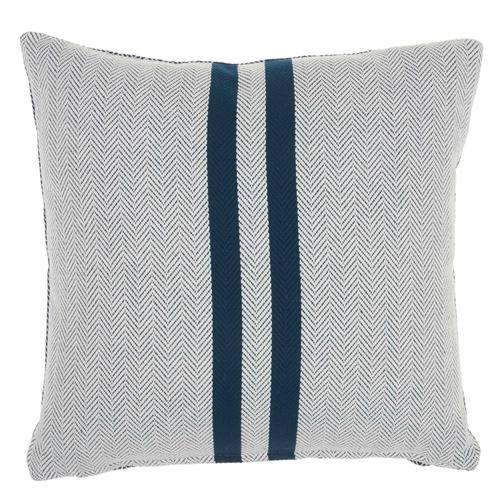 "Life Styles Ss918 Navy 18"" X 18"" Throw Pillow"